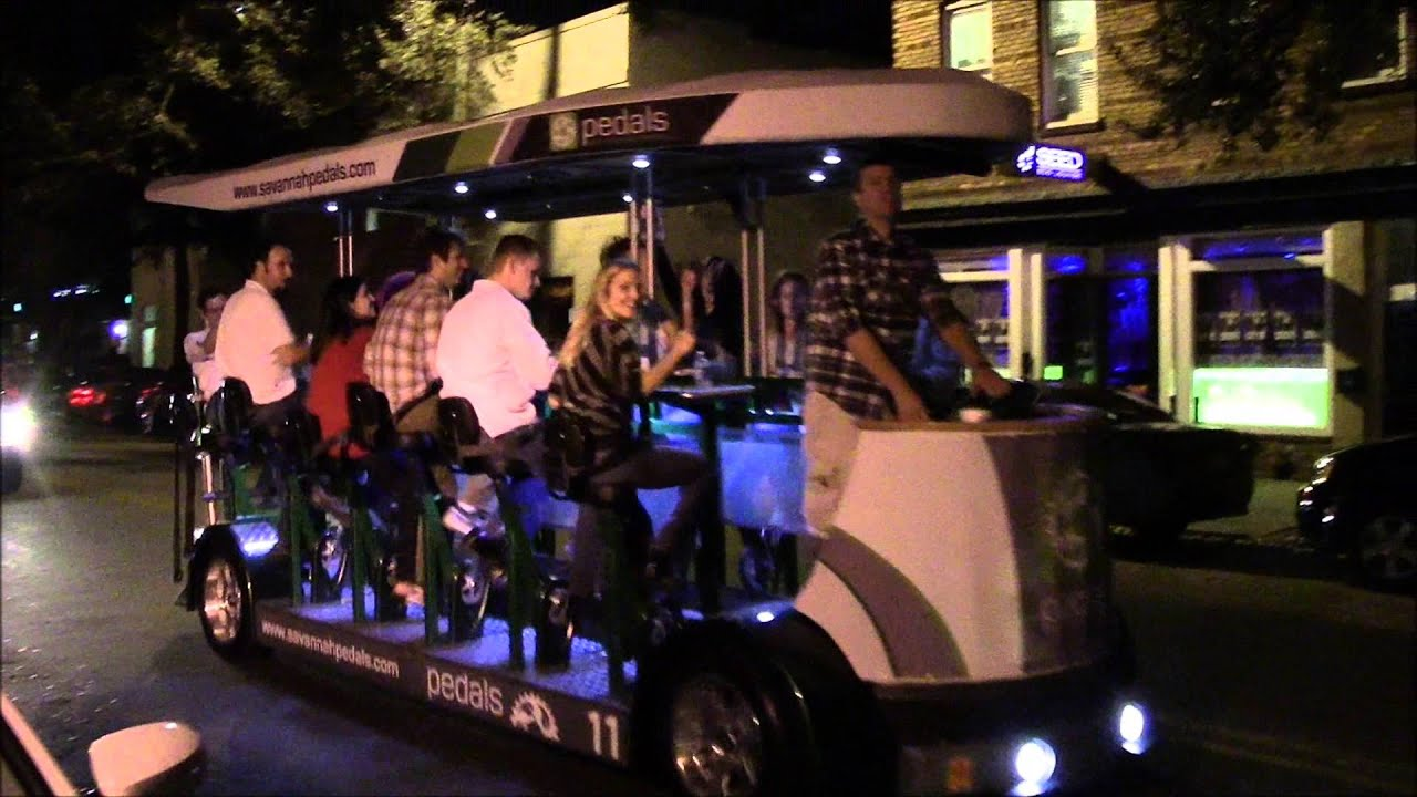 Savannah Georgias People Powered Pedi Cab  The Beer Bike