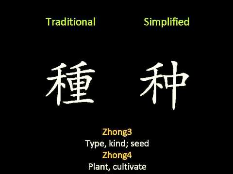 Traditional Vs. Simplified Chinese characters - 50 most frequent differing characters