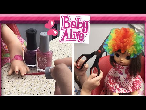 BABY ALIVE Nail And Hair Salon painting Baby Alive Nails