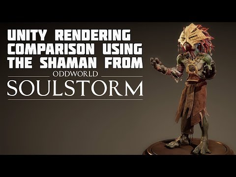 Oddworld: Soulstorm The Shaman rendering comparison from Unity GDC Keynote 2019