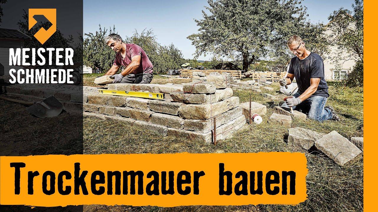 trockenmauer bauen | hornbach meisterschmiede - youtube