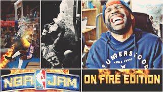 DARRYL DAWKINS BREAKS BACKBOARD! NBA JAM ON FIRE EDITION! #4 - 76ERS CHALLENGE!