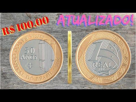 MOEDA DE 1 REAL 50 ANOS BC COM DEFEITO PODE ATINGIR 100 REAIS #Numismática 2018