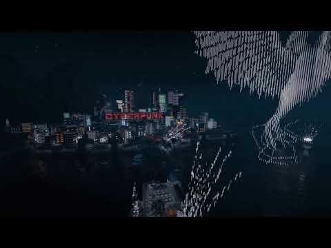 Cyberpunk 2077 город Найти-Сити в Minecraft