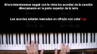 3.2 Curso de Piano Cristiano Como tocar que sería de mi Jesus Adrian Romero en Piano   en do y sol m