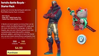 How To Get RED STRIKE STARTER PACK (RELEASE DATE) Fortnite Starter Pack 8 - NEW Skin Bundle - VBUCKS