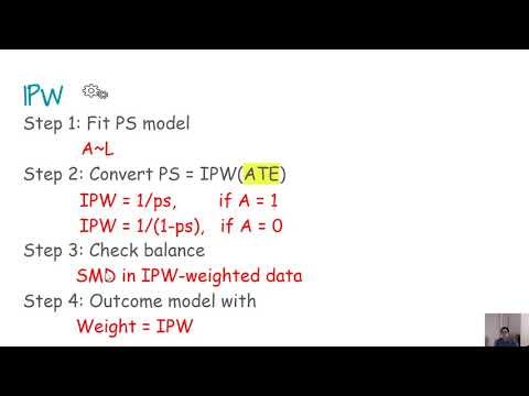 Propensity score weighting using inverse probability of weighting (IPW) for ATT and ATE