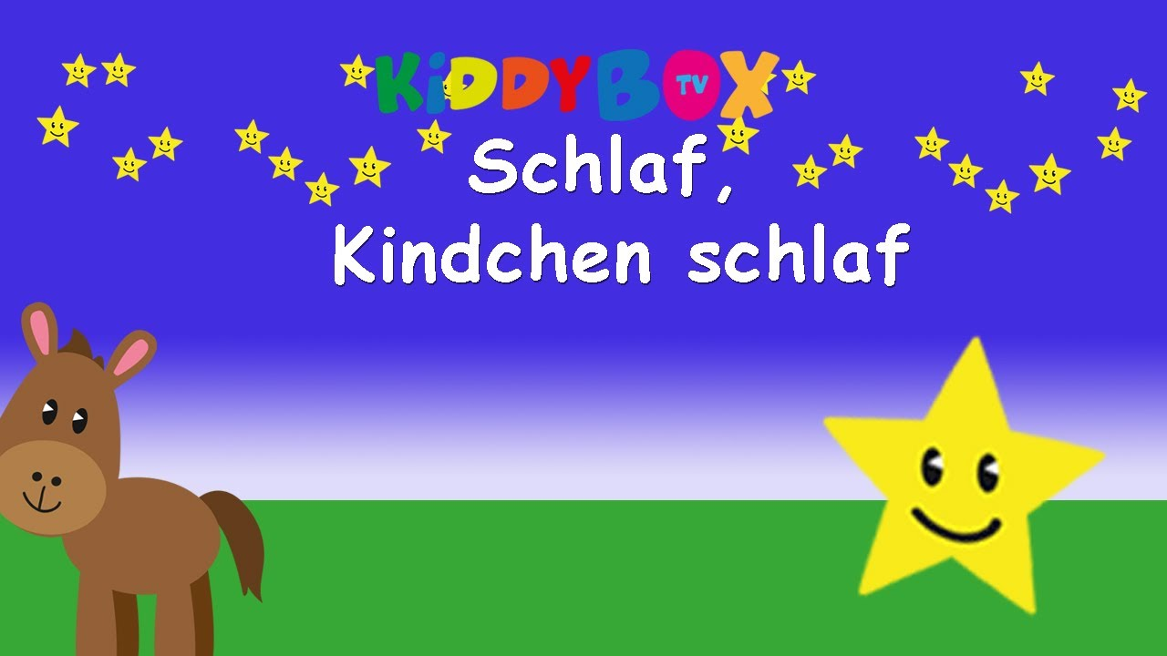schlaf kindlein schlaf kinderlieder zum mitsingen kiddybox tv karaoke lyric songtext. Black Bedroom Furniture Sets. Home Design Ideas