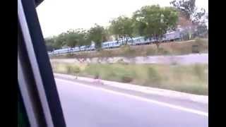 Haryana Roadways bus Vs Shatabdi Express India fastest train.