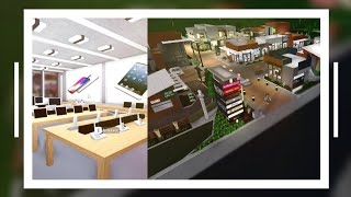 (700K-1M) APPLE STORE! (Outdoor Shopping Mall) SpeedBuild PART 5 - Bloxburg ROBLOX