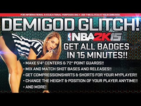 NBA 2K15 DEMIGOD GLITCH!! - Get All Badges in 15 mins, Make 7