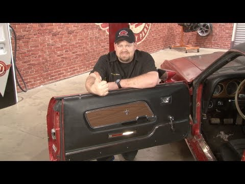 Mustang Door Panel Replacement 1969-1970 Installation - YouTube