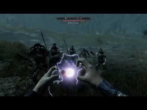 PS4 Elder Scrolls V Skyrim Special Edition - Austin's Spell Pack Mod Gameplay