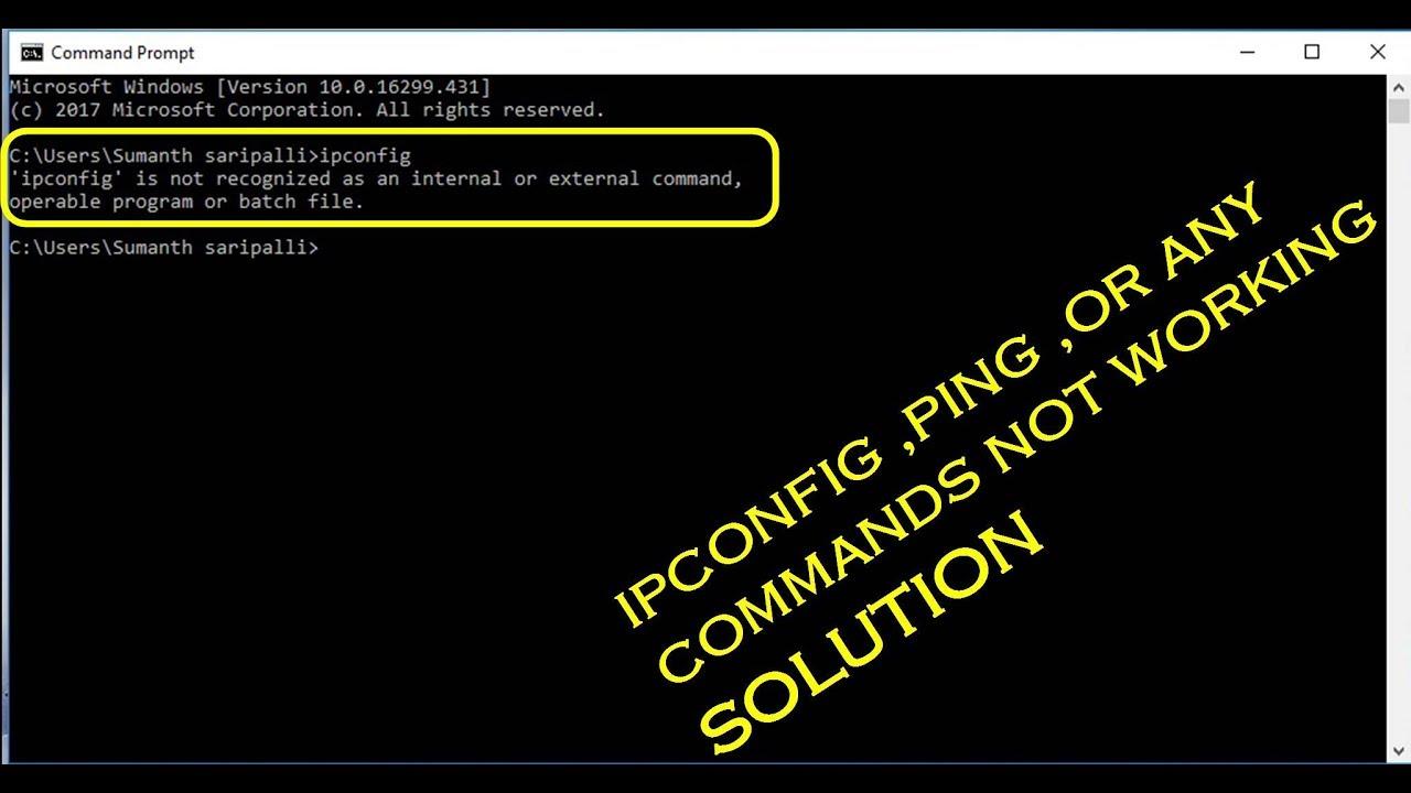 CMD commands not working in windows 10 windows 8 windows 7 ...