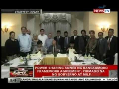 QRT: Power-sharing annex ng Bangsamoro framework agreement, pirmado na