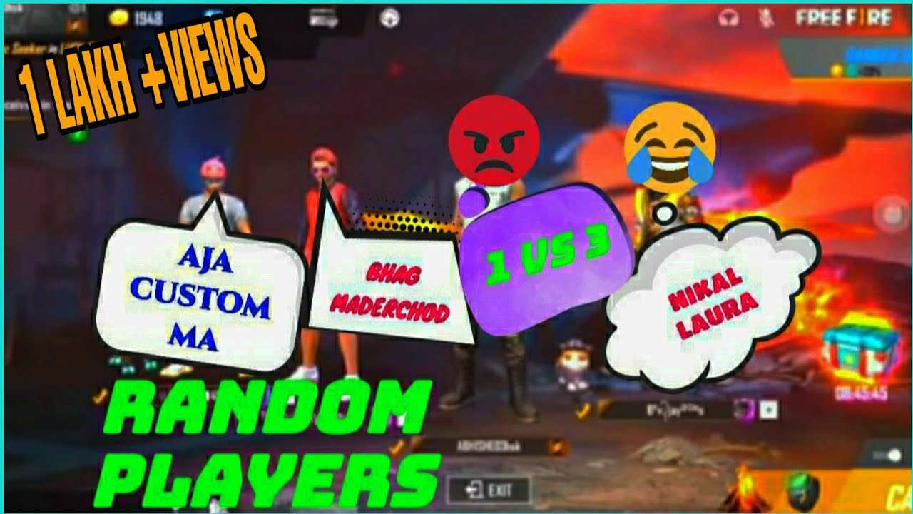 Random player call me Noob and I challange for Room1 VS 3|Garena Free fire|choubey gaming