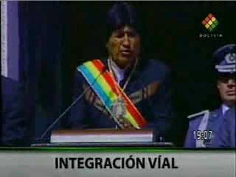Evo Morales, 183 aniversario de la independencia de Bolivia, discurso, Fiestas Patrias, 6 de Agosto de 2008 1/2