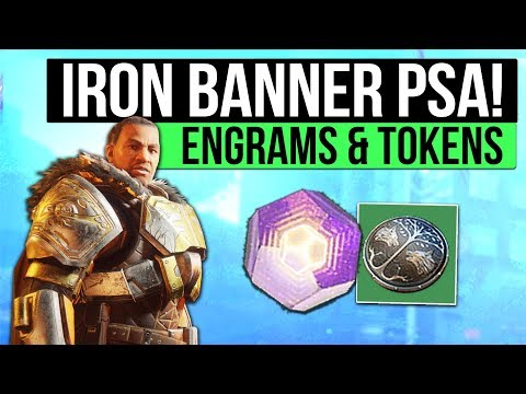 Destiny 2 PSA | Iron Banner 300 Power Rewards Today (For 300+ Characters) & Don't Hoard IB Tokens!