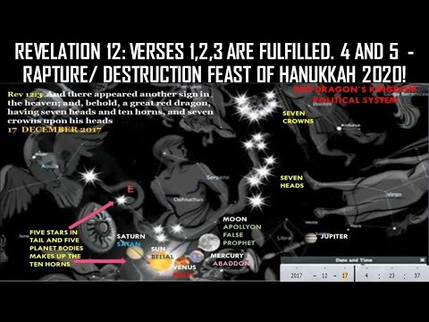 RED DRAGON APPEARS 17 DECEMBER 2017 - ON THE FEAST OF HANUKKAH – REV 12:3 AND ANOTHER SIGN APPEAR