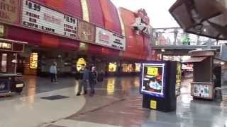 Fremont Street Expierence Las Vegas, Rainy Day, People watching