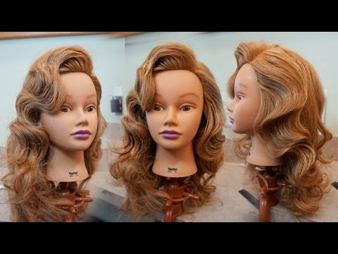 Retro Glam Waves Tutorial / Hair How to / How to do Hollywood Waves