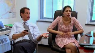 Huma Abedin witnesses her husband, Anthony Weiner, sexting mid interview