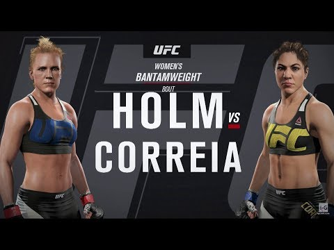 EA Sports UFC 2 - Holly Holm vs Bethe Correia UFC Fight Night 111 Full Fight Simulation