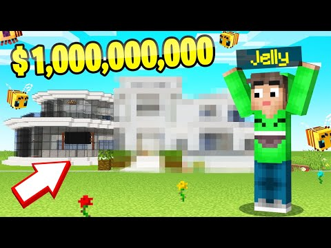 I BUILT A $1 BILLION MANSION In BEE TOWN! (Minecraft)