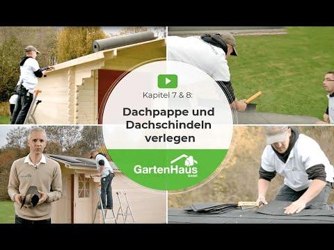 Berühmt Kapitel 7 & 8: Dachpappe und Dachschindeln verlegen - YouTube SM82