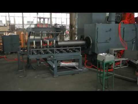 Steel cylinder external shot blasting machine- CNG cylinder shot blasting machine