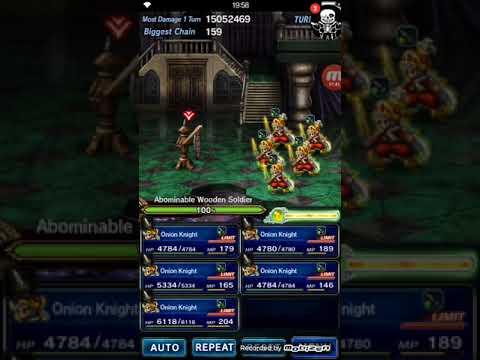 ( FFBE ) Final Fantasy Brave Exvius : 5x Onion Cutter Chaining