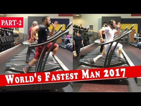 fastest treadmill runner in the world | Running Speed of 23.9 MPH | luis badillo jr #2