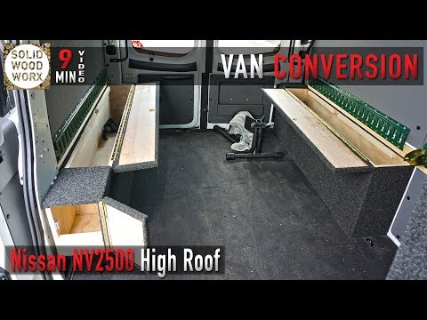 Nissan high roof van conversion for work and play!
