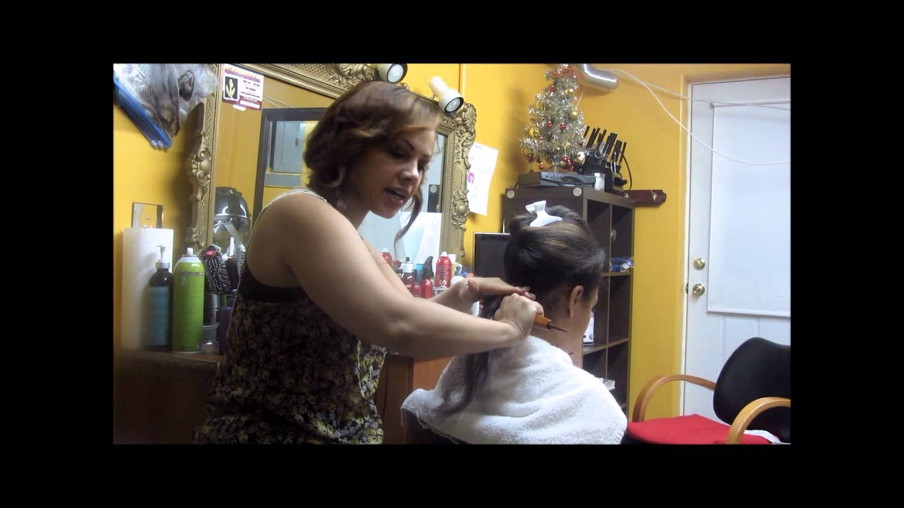 dominican style hair salon how to blowdry hair style 1984 | maxresdefault