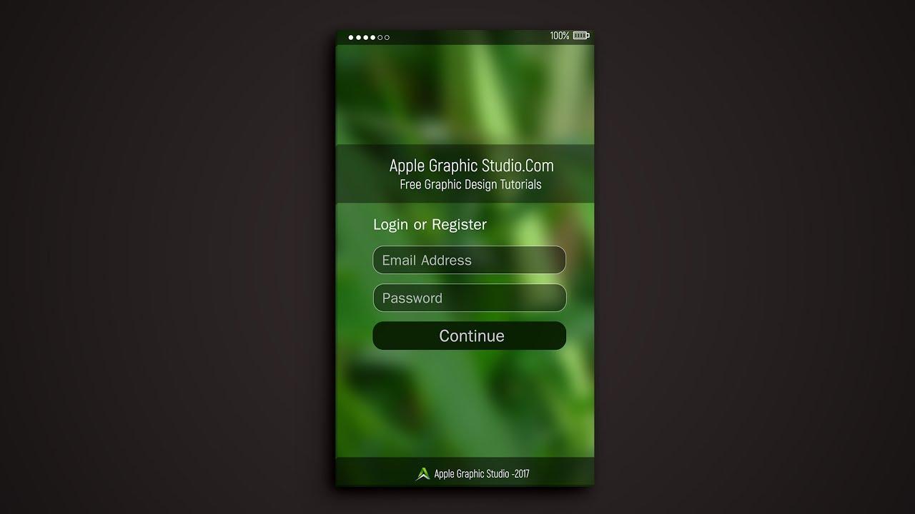 login page design
