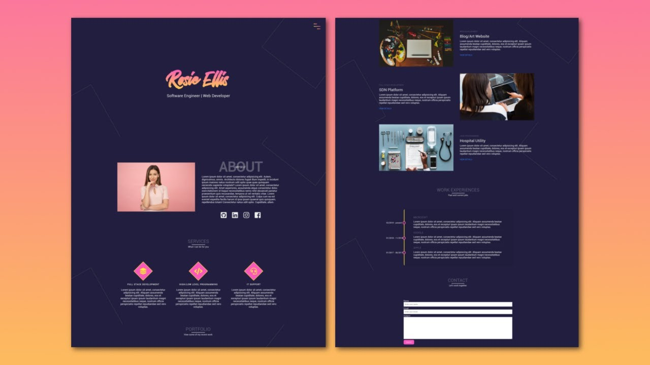 Build a Responsive Portfolio Website From Scratch [PART 1] | HTML and CSS Tutorial 2019