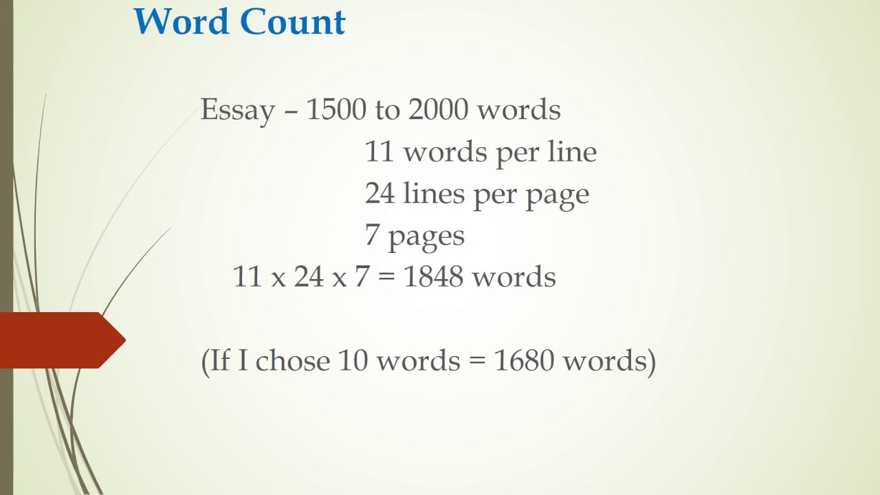 how many words per page college essay