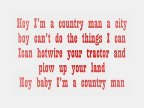 luke bryan-country man w/ lyrics
