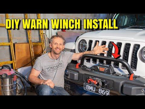 DIY Warn Zeon Winch Install – Overland Jeep Gladiator / Wrangler