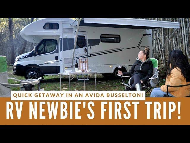 RV Newbie's First Trip in a Motorhome!