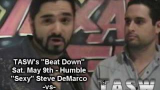 """Gambar cover TASW """"Sexy"""" Steve DeMarco Promo -May 5th, 2009"""