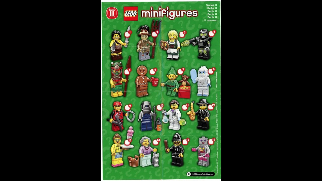 LEGO Collectible Minifigures Series 11 - ALL 16 ...