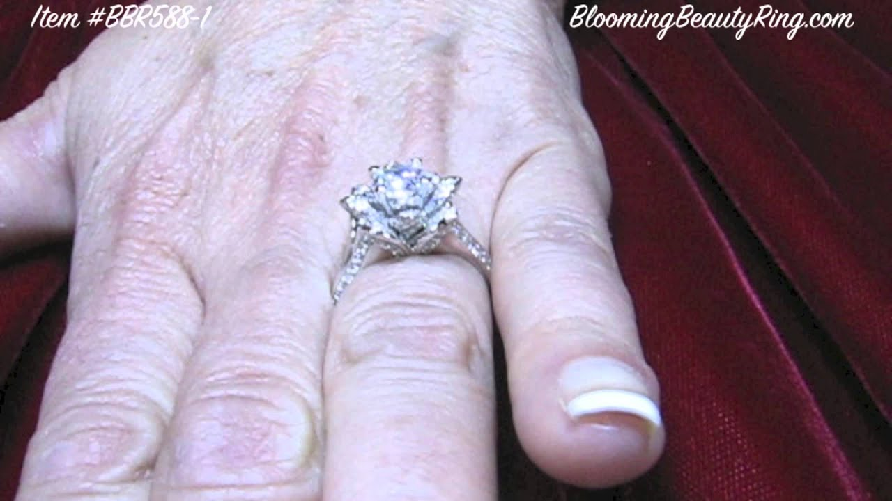 products lotus dg ring morganite unique with rings flower engagement