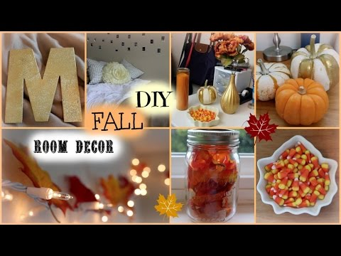 diy fall room decor cheap and easy ideas youtube. Black Bedroom Furniture Sets. Home Design Ideas