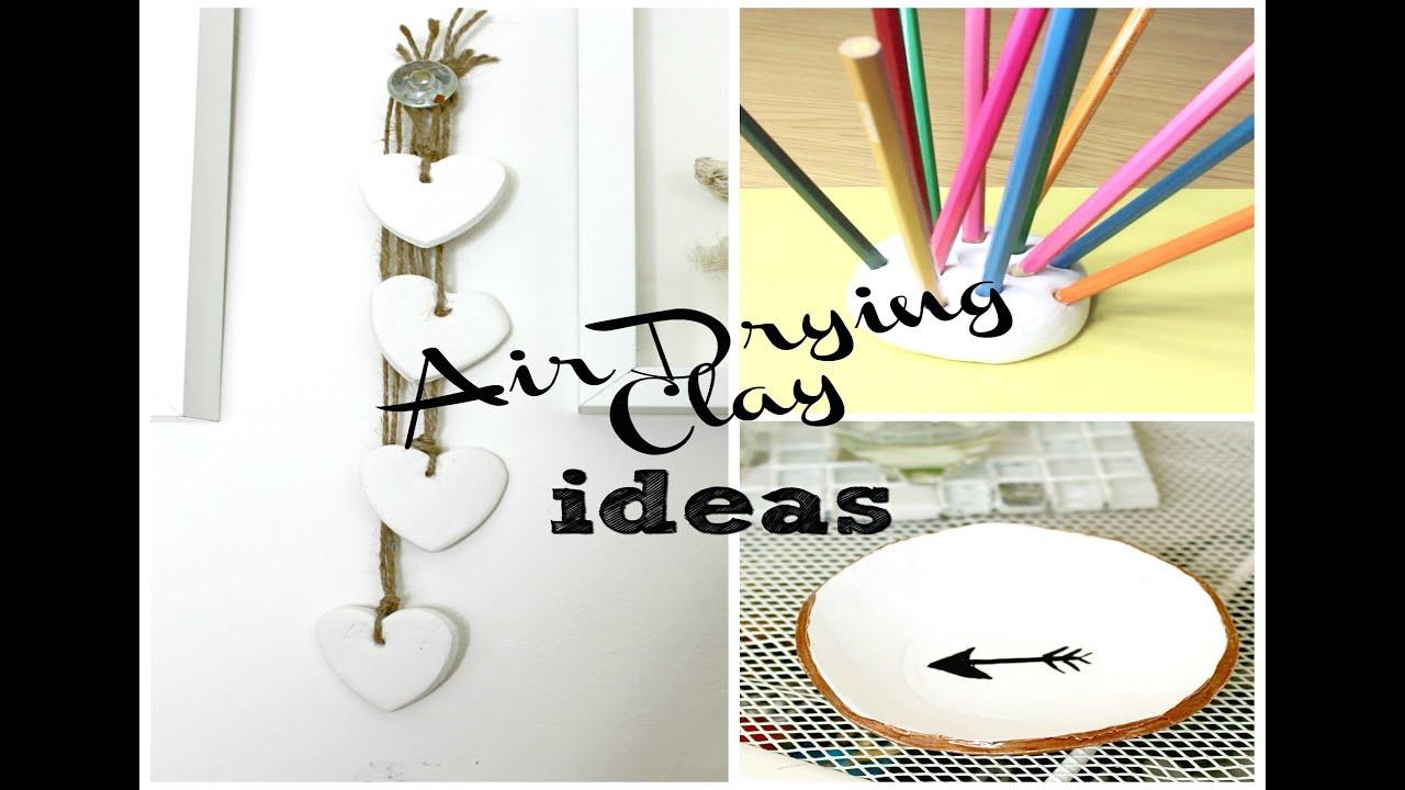 Diy Air Drying Clay Ideas Youtube