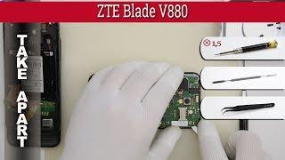 How to disassemble 📱 ZTE Blade V880 Take apart Tutorial