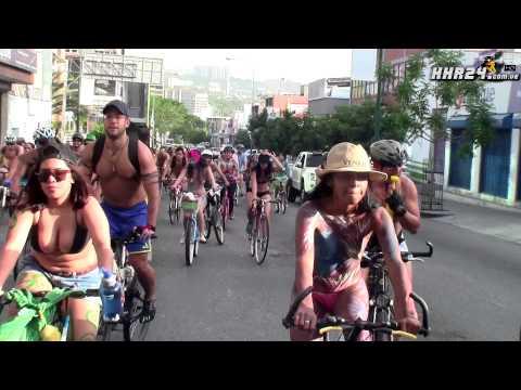 AHORA SI ME VES , Manifestacion Ciclonudista Mundial Caracas, Venezuela 2015 HHR24HD