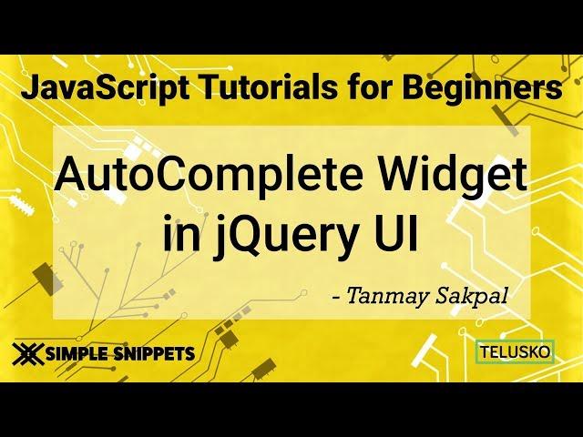 Autocomplete Widget in JQuery UI