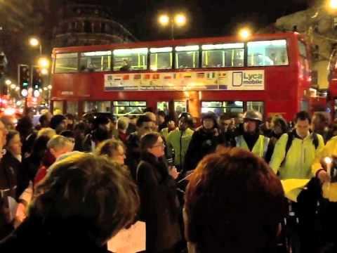 Caroline Russell speaks at Kings Cross Vigil