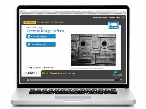 NACE Basic Corrosion Online Course. Register at http://www.nace.org/basiconline